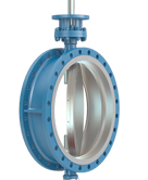 Tricentric butterfly valves